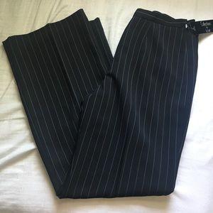 NWT Pinstripe black dress pants
